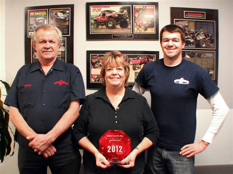 Marlin Crawler wins the 2012 Fresno Award Program for Truck Repair & Service!